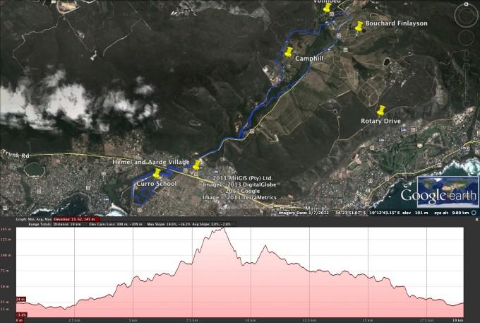 Whale Festival 2013 15km MTB  route