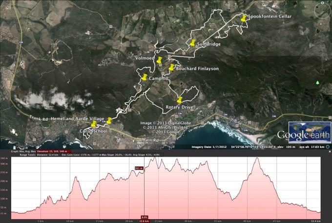 Whale Festival 2013 55km MTB route